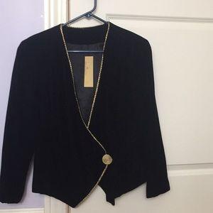 Talbots black velvet jacket